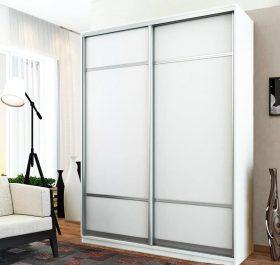 Фото шкафа купе с комбинированными дверями из стекла LACOBEL